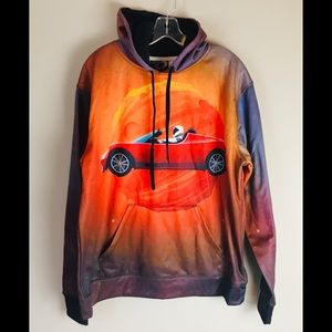 Astronaut Tesla Psychedelic Hoodie Pullover Large